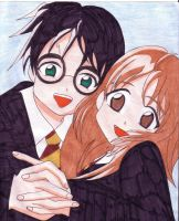 Harry and Hermione by Raven-ChildoftheDark