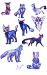Catformers doodles~Decepti-Cats by MidnightsBloom