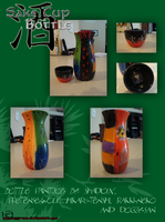 Sake Cup and Bottle by Doggy-san