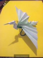 Origami Flying Crane by DarkUmah