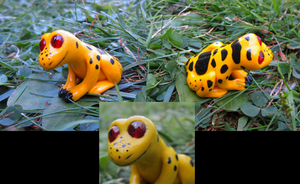 Mini frog sculpure by HollieBollie