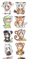 chibi zoo in color by meago