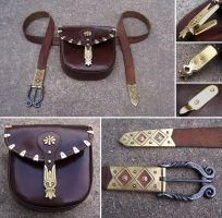 Historical belt and pouch by Astalo