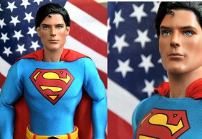Doll painted Christopher Reeve by noeling