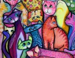Colorful Cats 1 by jenthestrawberry