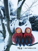 Snish Owl cushion by T-EE