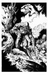 Swamp Thing inks by KenHunt