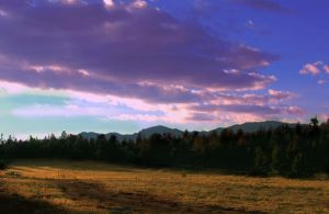 Windriver Mountian Evening by michaelgoldthriteart