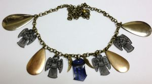 Kawaii Weeping Angels necklace by Lovelyruthie