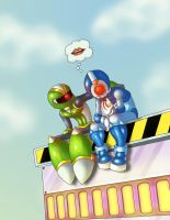 Megaman Tribute Rejected 1st by alohastitch