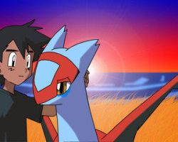 latias and ash sad by itachisbestgirl123