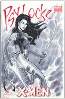 psylocke cover by MichaelDooney