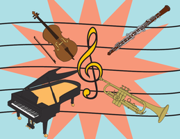 Instrument Collage by Just-Call-Me-J