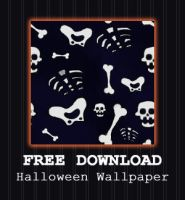 FREE DOWNLOAD - Skeleton Wallpaper by PointyHat