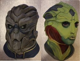 Garrus and Thane Cakes by BeanieBat