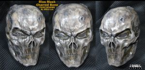 Rios Mask in Charred Bone by Uratz-Studios