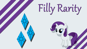 Filly Rarity Wallpaper by Silentmatten
