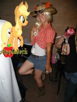 Me as AppleJack gajinka by OmegaFoxy