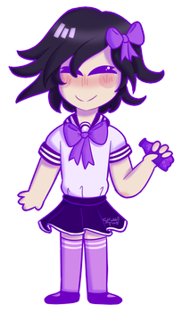Ouma in an Anime Schoolgirl outfit by AviDoodles