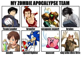 Destikim's Zombie Apocalypse Team by Niban-Destikim