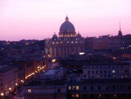 St. Peter's basilica at night by Nightingale963