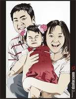 Happy Family Vector by ndop