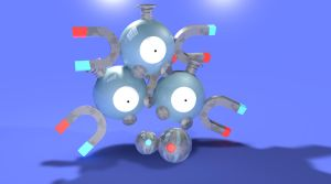 Magneton with Matching Pokeballs by MalcolmHinds
