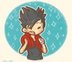 Sweaty Kuroo by SuperMiniGigi