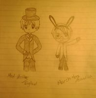 Hetalia in Wonderland: Madhatter and MarchHare by Russialover174