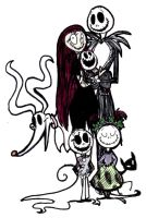 Jack Skellington's family by Ghost-Peacock