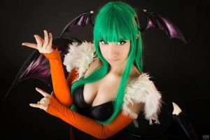 Aensland Morrigan, Darkstalkers 2 by Ariichuu