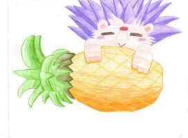 Roll and Pineapple... Heh~ by LonelyShadow666