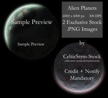Alien Planet PNG Pack by CelticStrm-Stock