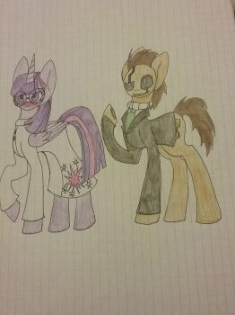 Dr.Alyphs-Twilight and Dr.Gaster-Whooves by Razorwingproject201