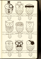 Owls by P3T3B3