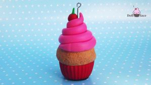 Polymer Clay Cupcake by Dollface-RYJ