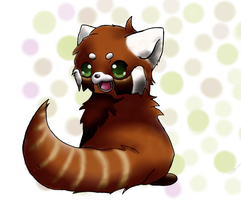 SAI Paint tool: Red Panda by Self-Eff4cing
