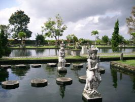 Garden of the Water Palace by somekindofgeri
