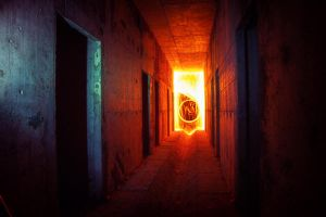 blue light red fire by neronin