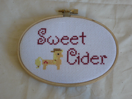 Sweet Cider Cross Stitch by sparklepeep