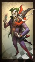 LOVE....... Joker and Harley by el-grimlock