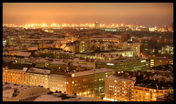 Helsinki City Lights 3 by HannaV
