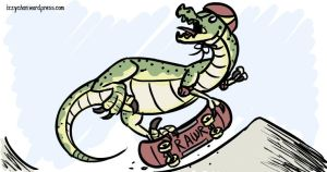 Raptor on a Skateboard by izumizagari