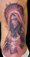 Virgin Mary Cadillac tattoo by hatefulss