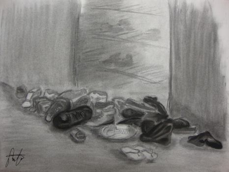 Art 231 - Pile of Shoes by AIRanimechiic