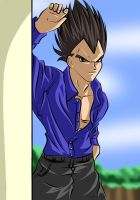 Relaxed Vegeta by lynnember