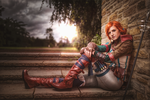 Triss joined me during the attack on the Old Manor by MadameSkunk