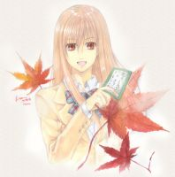 Chihayafuru Chihara Maple Leaves by Nick-Ian