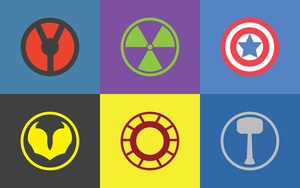 The Avengers Logo's Wallpaper by LaughterNotIncluded