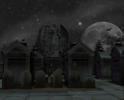 Cemetery Background stock by mysticmorning